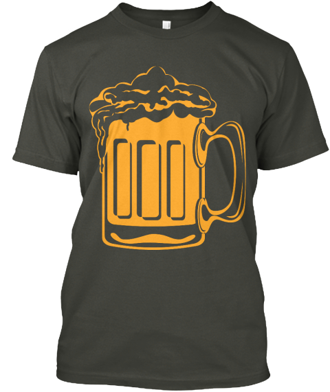 Iowa City Beer Band 2016 Smoke Gray T-Shirt Front