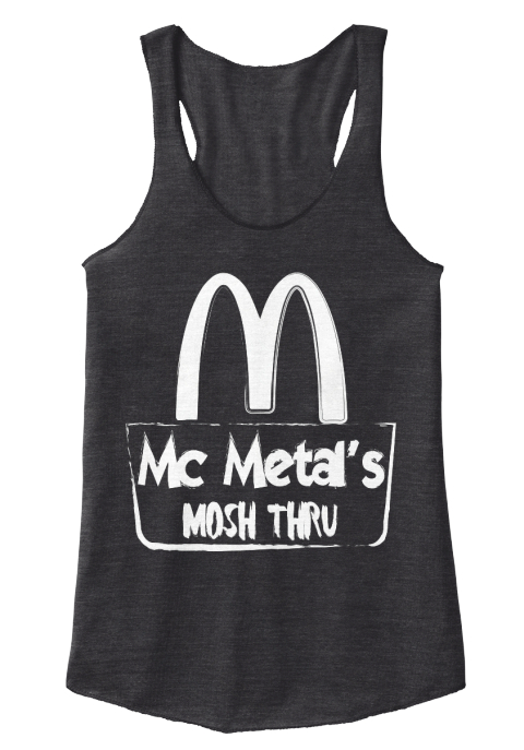 M Mc Metal's Mosh Thru Eco Black Women's Tank Top Front