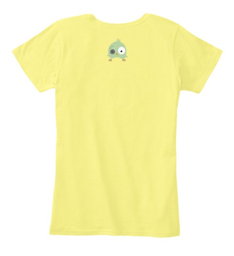 Morning Person Lemon Yellow Women's T-Shirt Back