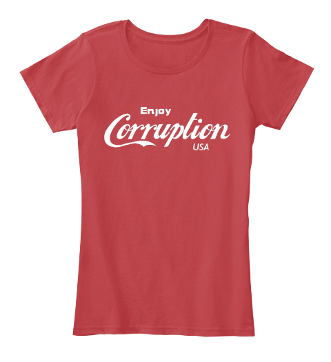 Enjoy Corruption Usa Classic Red Women's T-Shirt Front