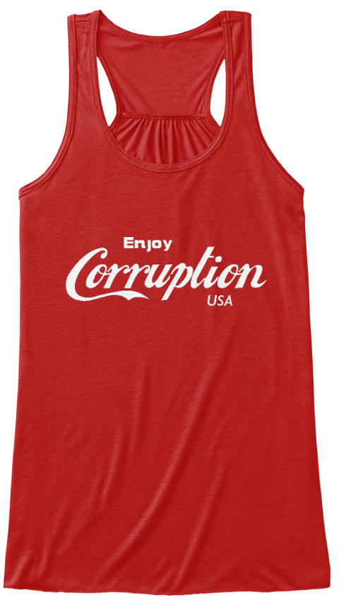 Enjoy Corruption Usa Red Women's Tank Top Front