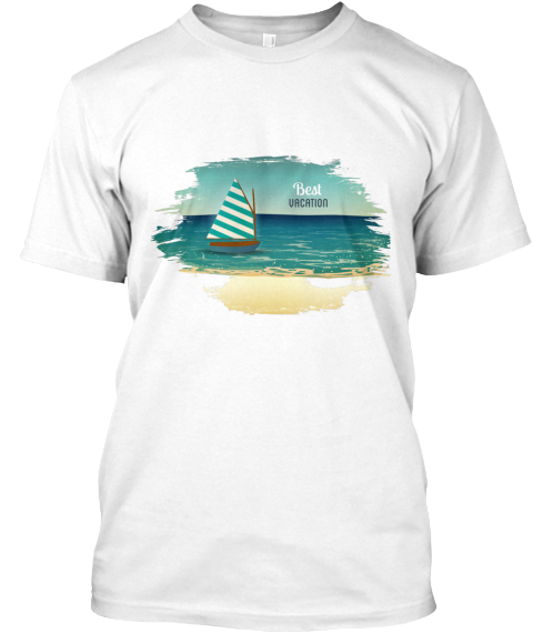 Best Vacation Summer White T-Shirt Front