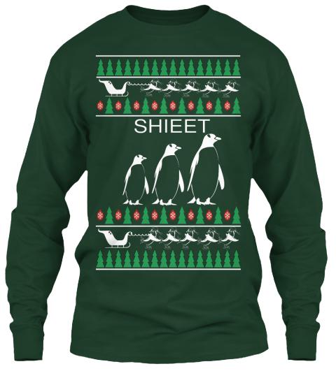shieet forest green long sleeve t shirt front