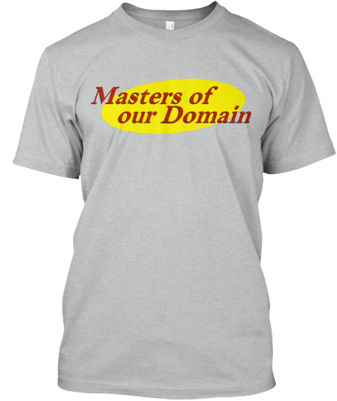 Masters Of Our Domain Athletic Grey T-Shirt Front