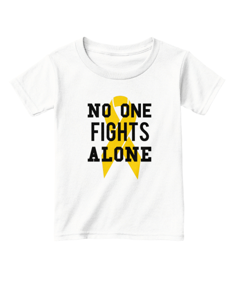 No One Flights Alone White  T-Shirt Front