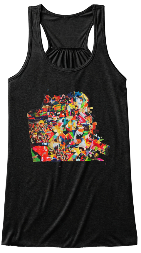 Bsauer City Map Black Women's Tank Top Front