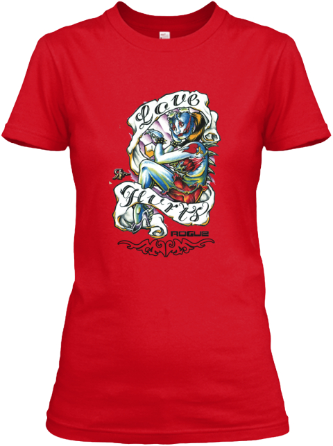 Love Hurts Rogue Red Women's T-Shirt Front