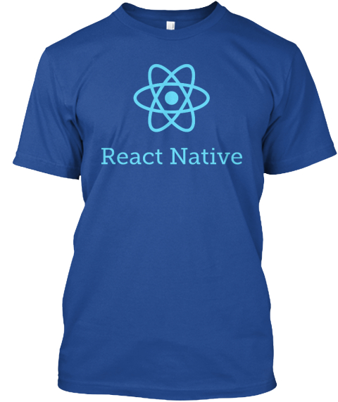 React Native Deep Royal T-Shirt Front