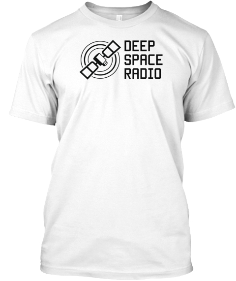 Deep Space Radio White T-Shirt Front