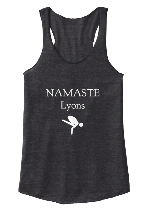 Namaste Lyons Eco Black Women's Tank Top Front