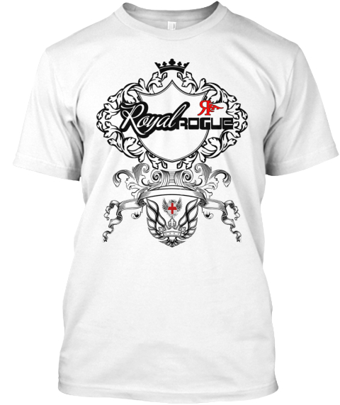 Royal R Rogue White T-Shirt Front