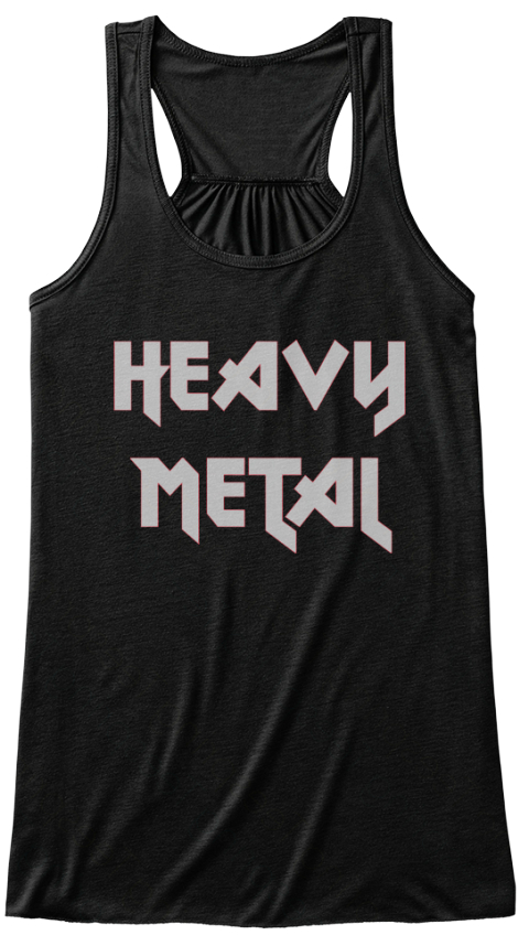 Heavy Metal Black T-Shirt Front