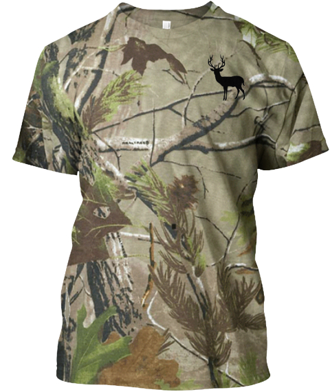 Camo Deer Camouflage T-Shirt Front