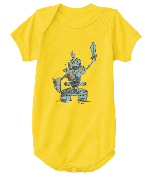 Robot Warrior Baby Yellow  T-Shirt Front
