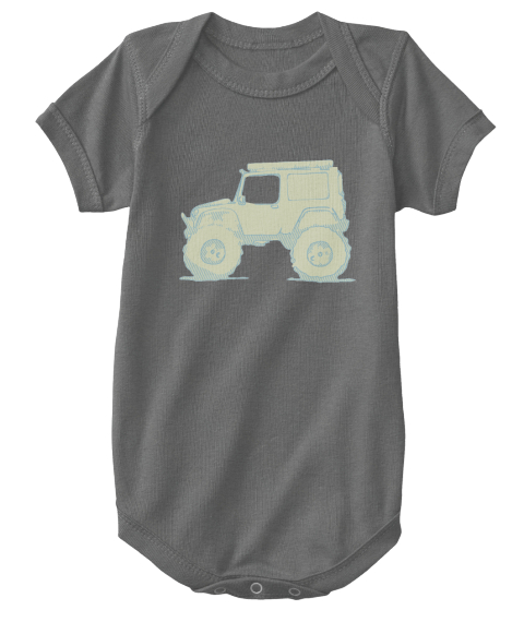 44's! Baby Charcoal T-Shirt Front