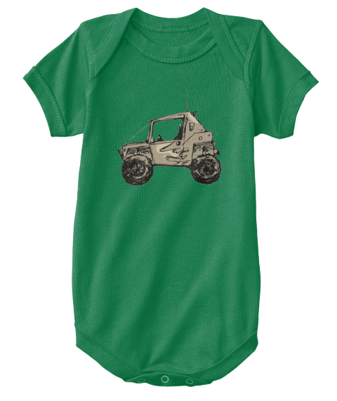 Flame Buggy Baby Kelly T-Shirt Front