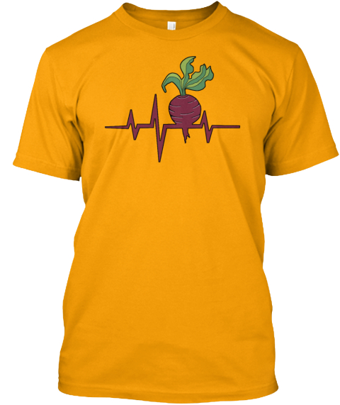 Heart Beet Gold T-Shirt Front
