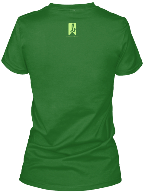 B Irish Green Women's T-Shirt Back