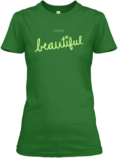 Stand Beautiful Irish Green Women's T-Shirt Front