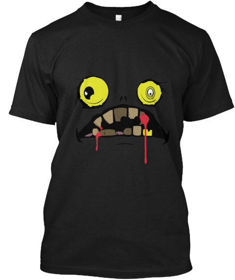 Halloween Face Black Camiseta Front
