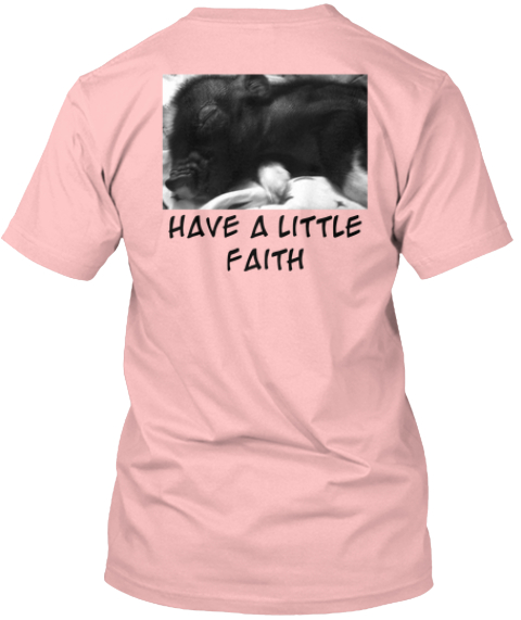%0 A%0 A%0 A%0 A%0 A%0 A%0 A Have A Little %0 A Faith  Pale Pink T-Shirt Back