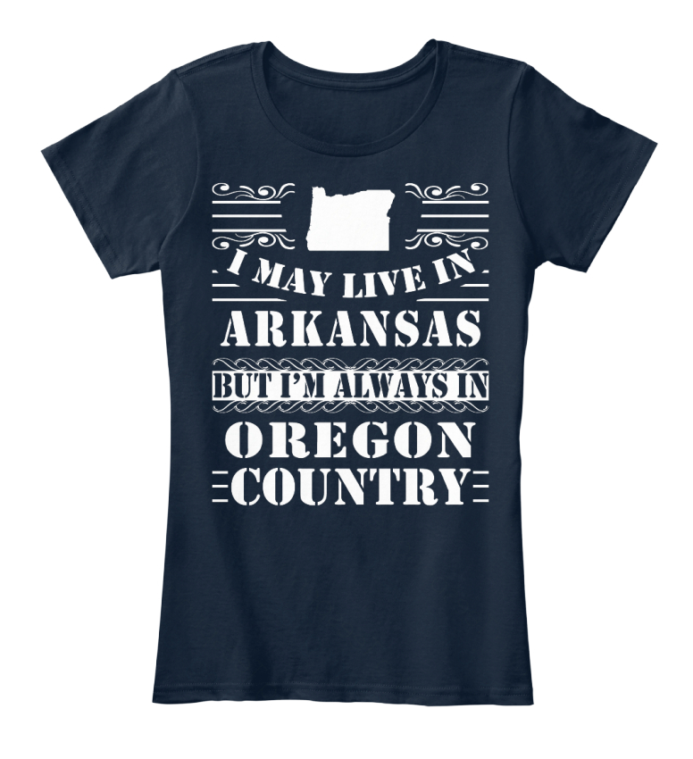 Comfortable-I-May-Live-In-Arkansas-But-I-039-m-Always-Women-039-s-Premium-Tee-T-Shirt thumbnail 5