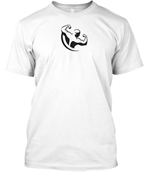 Train Hard Eat Smart White T-Shirt Front