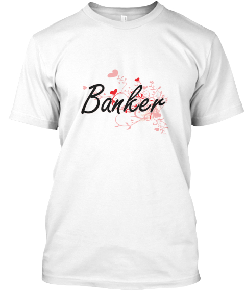 Banker White T-Shirt Front
