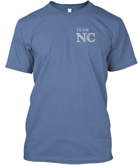 Team Nc Denim Blue T-Shirt Front