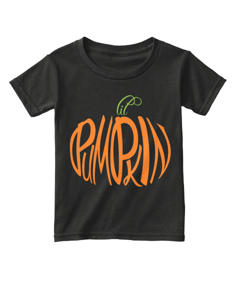 Lil Pumpkin Black T-Shirt Front