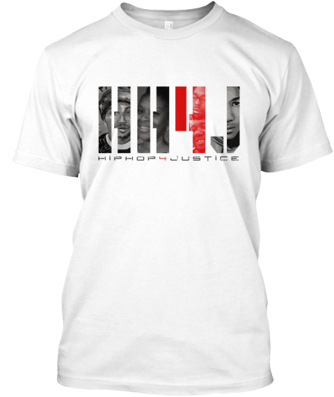 Hh4 J Hiphop4 Justice White Camiseta Front