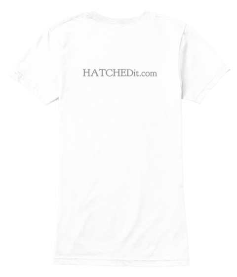 Hatche Dit.Com White Women's T-Shirt Back
