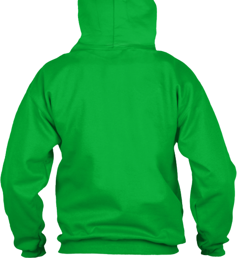 Eu Hoodie Tall Robots Rule Kelly Green Sweatshirt Back