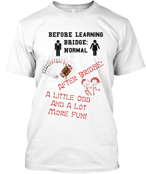 Before Learning Bridge Normal After Bridge A Little Odd And A Lot More Fun T-Shirt Front