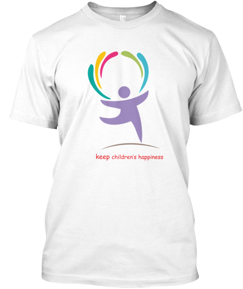 Keep Children's Happy White T-Shirt Front