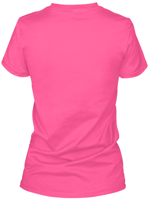 Its A Jackie Thing Hot Pink T-Shirt Back