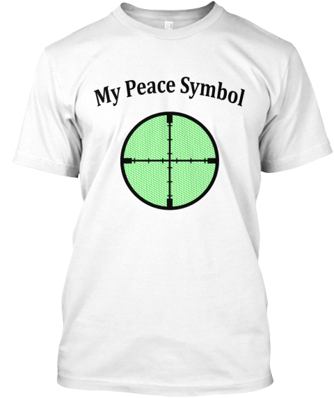 My Peace Symbol White T-Shirt Front