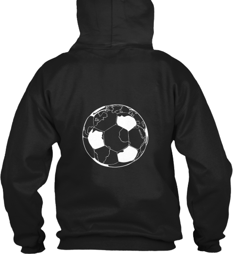 Football   A Game Of Excitement! Black Sweatshirt Back