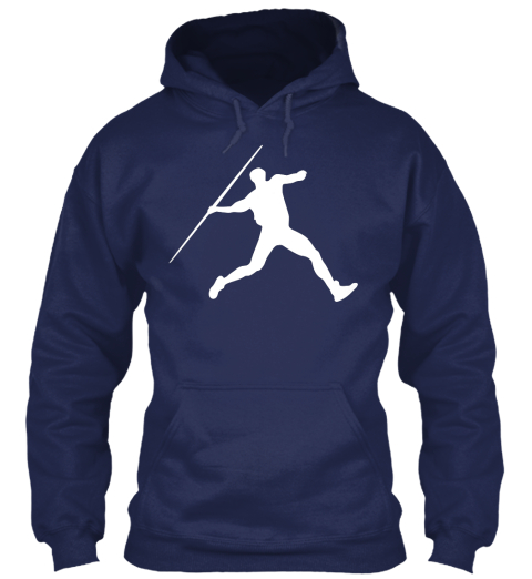 Hoodie Javlin Sports Navy T-Shirt Front