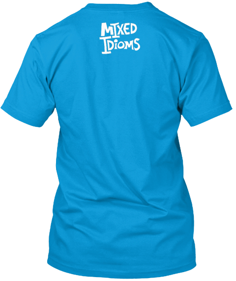 Mixed I Di Oms Teal T-Shirt Back
