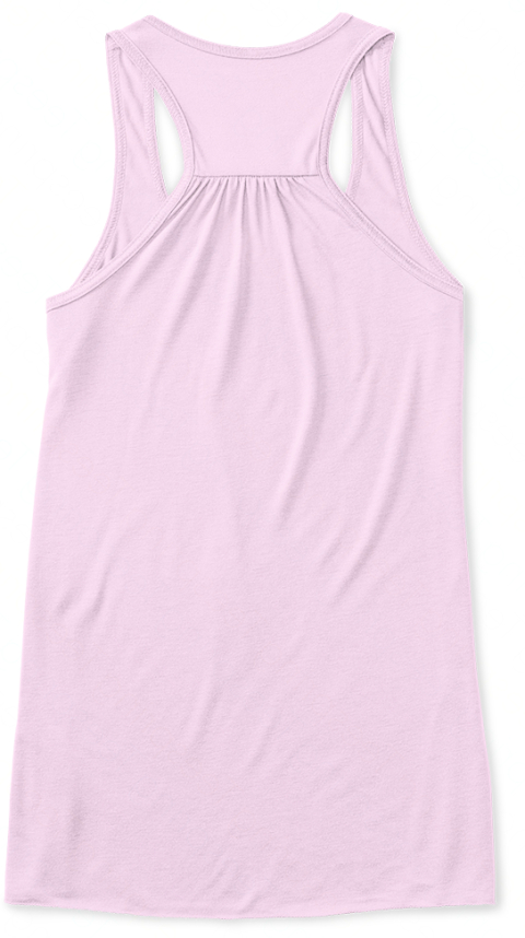 Limited   Vote For The Ice Cream Party! Soft Pink Women's Tank Top Back