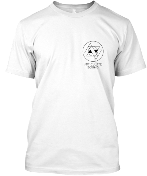 Articulate Sound White T-Shirt Front