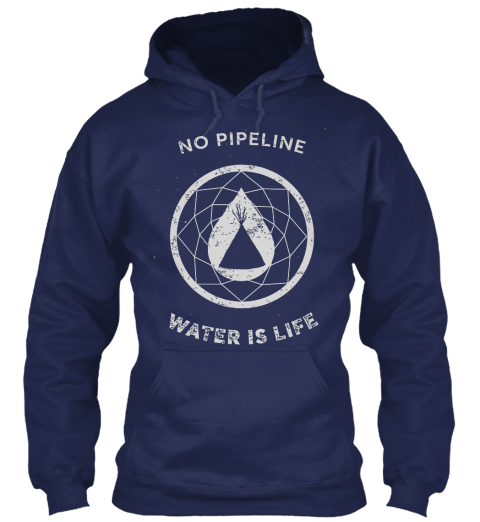 No Pipeline Water Is Life Navy Sweatshirt Front