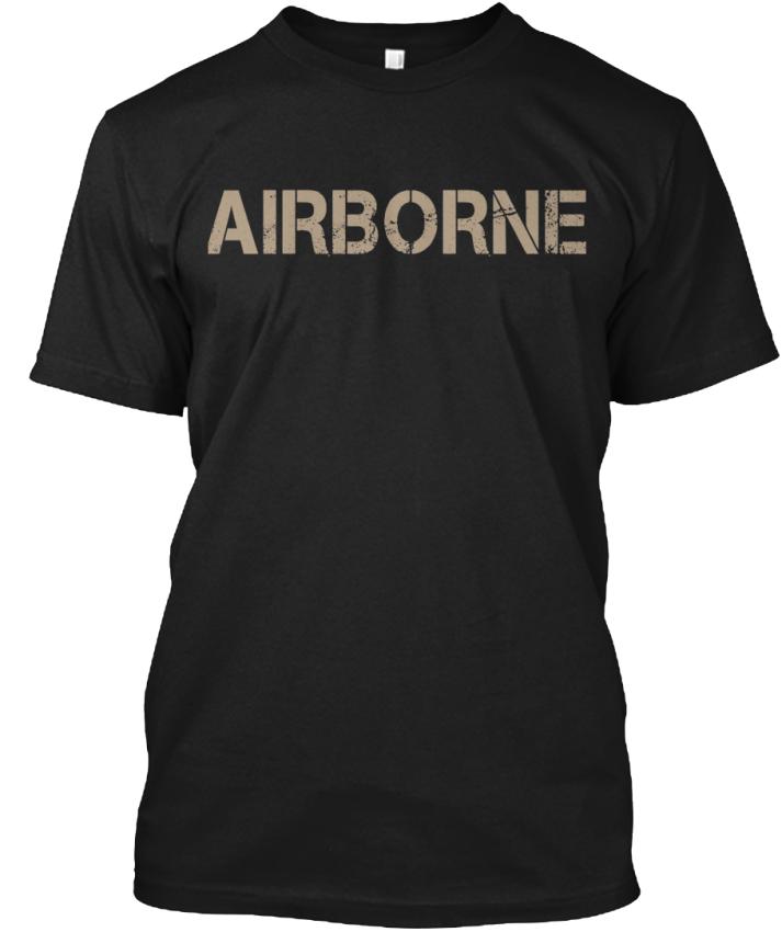 Airborne-Hanes-Tagless-Tee-T-Shirt thumbnail 12