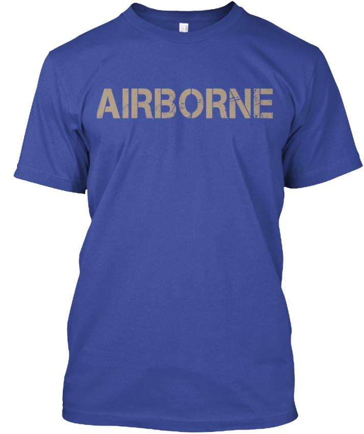 Airborne-Hanes-Tagless-Tee-T-Shirt thumbnail 8