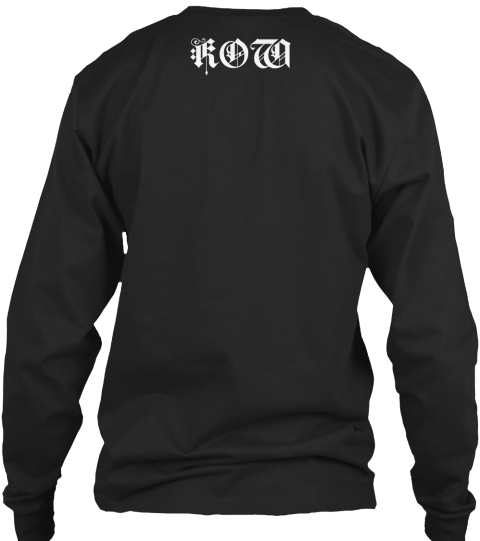 Kow (The Kings) Black Long Sleeve T-Shirt Back
