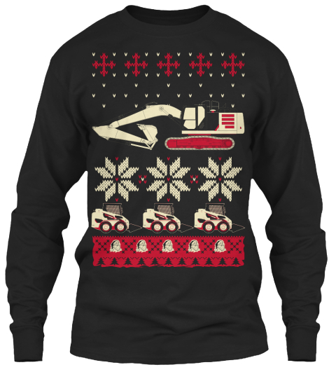 Christmas Catex Black Long Sleeve T-Shirt Front