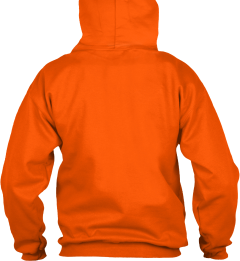 Hoodie Happy Halloween Safety Orange T-Shirt Back