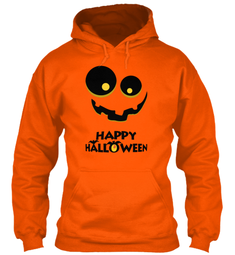 Happy Halloween Safety Orange T-Shirt Front