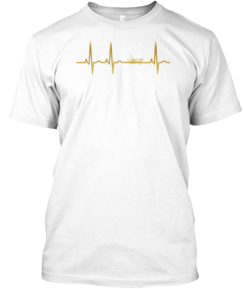 Evolution Ekg Heartbeat Black Hawk Hubsc White T-Shirt Front